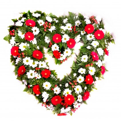 Květinové srdce