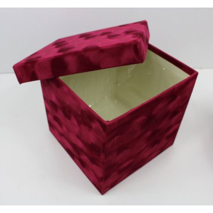 Dárková krabička hranatá vínová