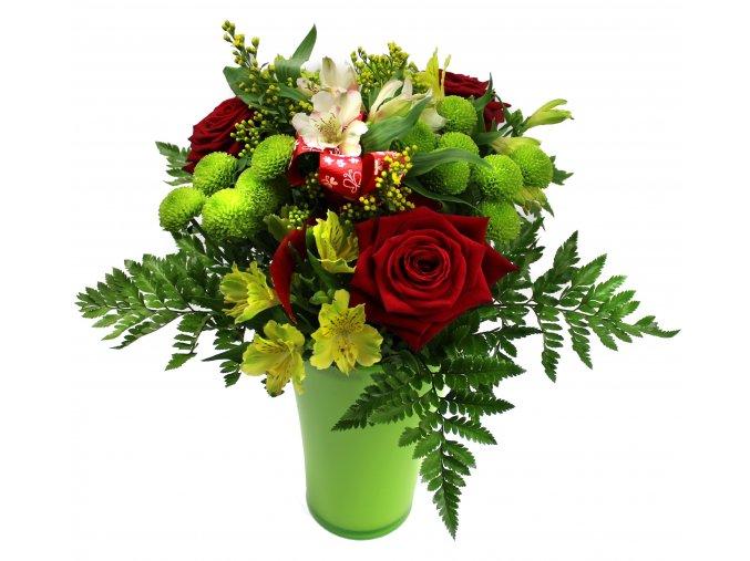 Kytice s vázou