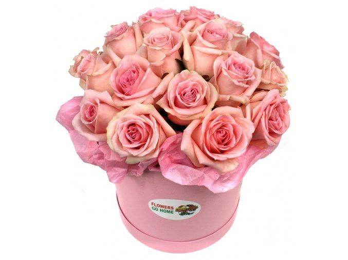 Květinový box růžové růže