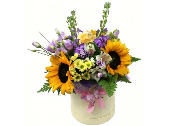 Květiny v krabici