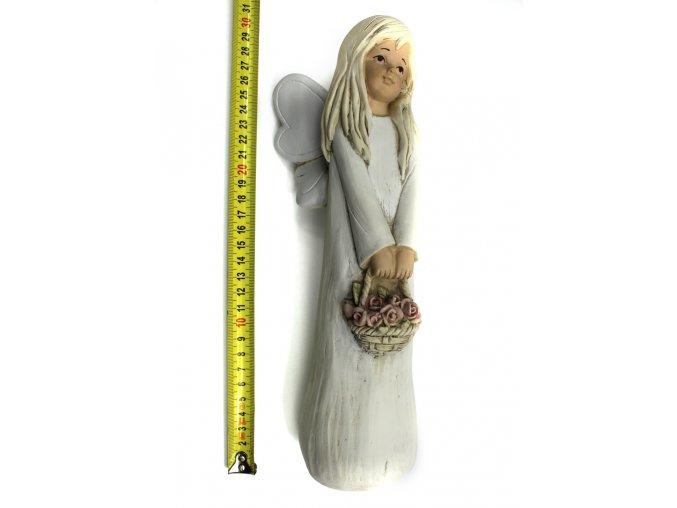 Anděl keramika 30 cm
