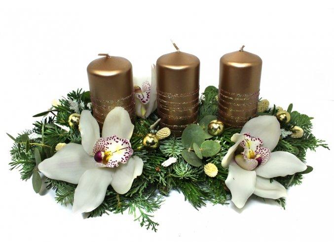 Vánoční svícen bronzový