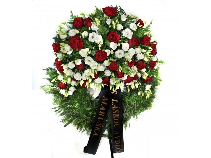 Smutční věnec eustomy - růže