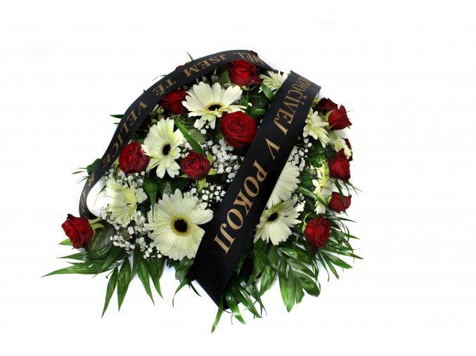 Smuteční kytice růže gerbery