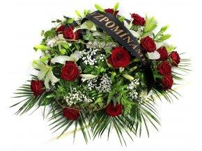 Smuteční vypichovaná kytice