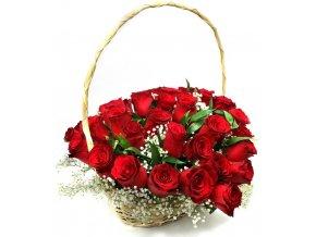 Valentýnský koš růží