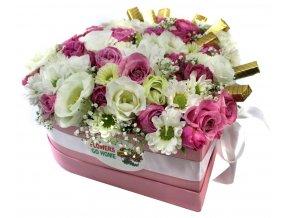 Květiny ve tvaru srdce