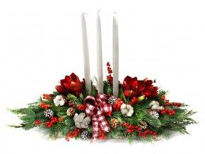 Vánoční svícen s amarylisem