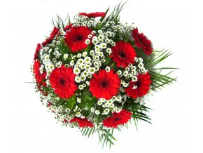 Smuteční kytice gerbery