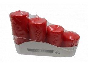 Adventní svíčky vzestupné červené
