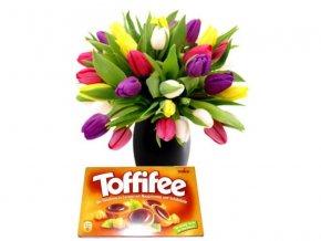Kytice Tulipánů s Toffifee