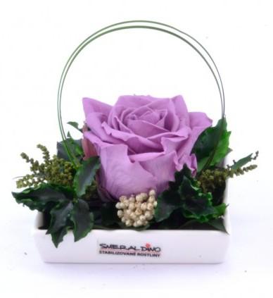 Dekorace stabilizovaná růže Barva: Lilac