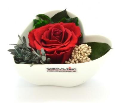 Stabilizovaná růže Barva: Red