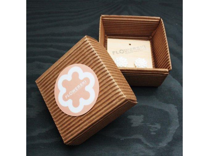 peach flowerski krabicka na sperky