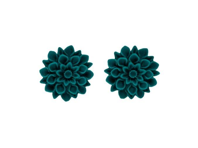 smaragd flowerski nausnice