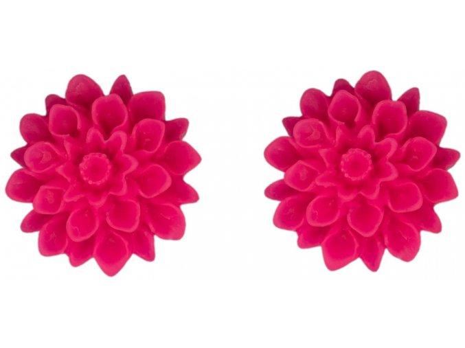 crazy pink flowerski nausnice
