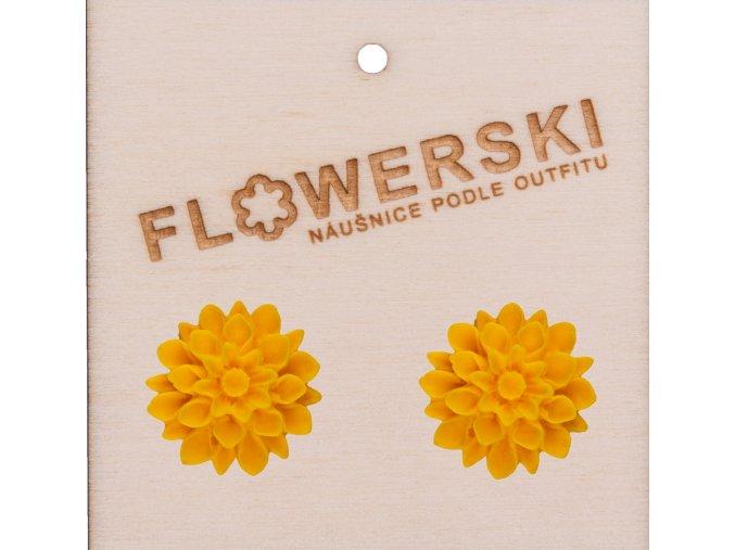 sunflower flowerski nausnice