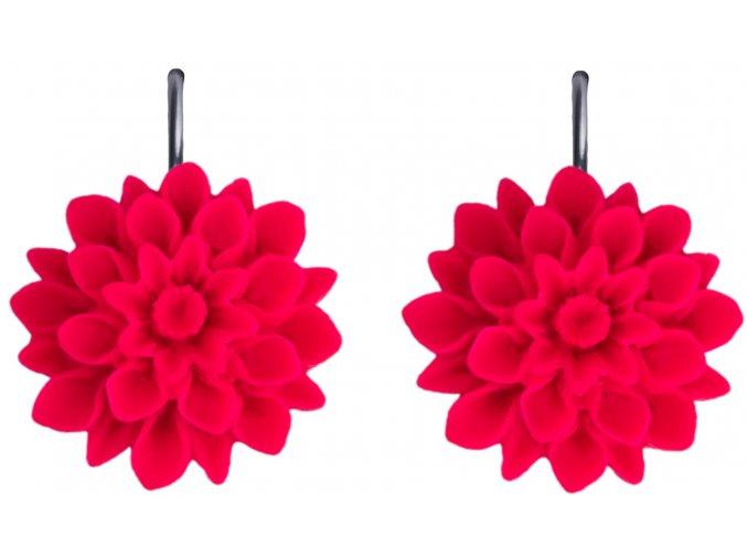 pink neon ruzove visaci nausnice flowerski