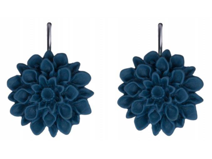 jeans lover modre visaci nausnice flowerski2
