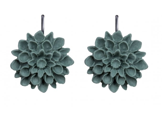 green grey stone sede visaci nausnice flowerski