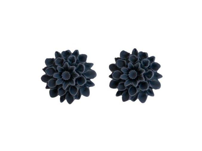 anthracite flowerski nausnice
