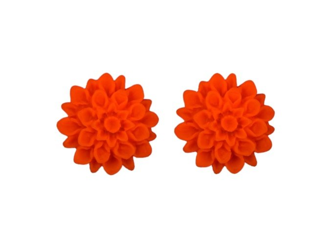 neon orange flowerski