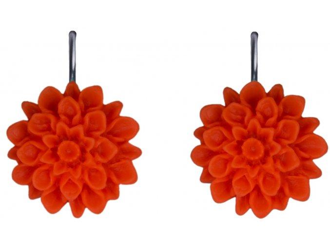 orange neon oranzove visaci nausnice flowerski