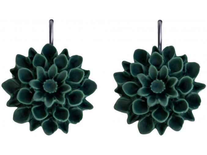 jungle zelene visaci nausnice flowerski