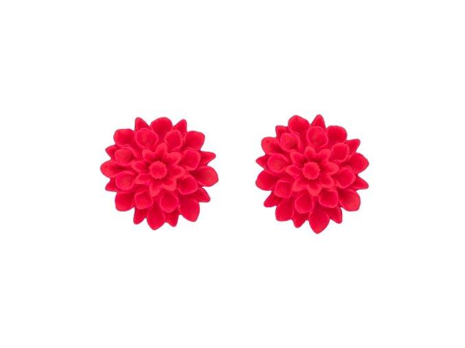 pink neon flowerski nausnice