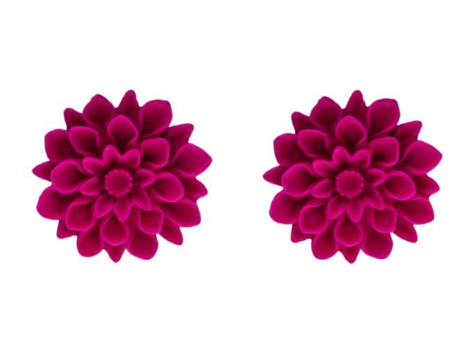 fresh peony flowerski nausnice
