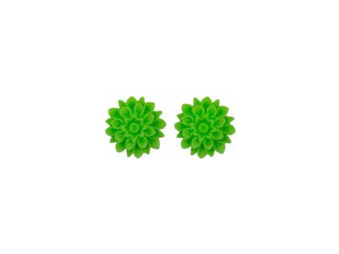 green neon flowerski nausnice