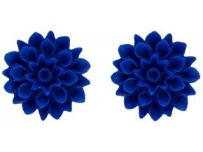 navy blue2 flowerski nausnice