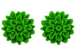 green grass flowerski barevne nausnice
