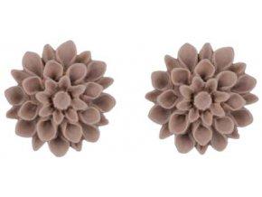 flat white flowerski nausnice