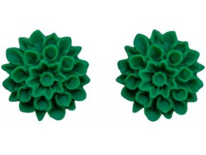 tropical leaf flowerski nausnice