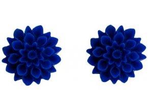 ultramarine blue flowerski nausnice