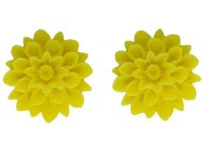YELLOW NEON flowerski nausnice
