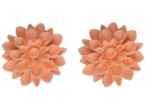 sunny peach nausnice flowerski