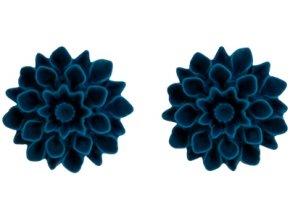 teal flowerski nausnice