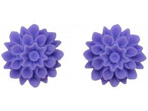 violet fialové flowerski nausnice