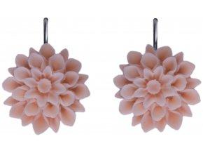 coral pink ruzove visaci nausnice flowerski