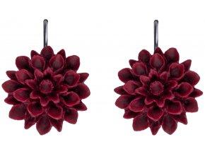 red wine cervene visaci nausnice flowerski