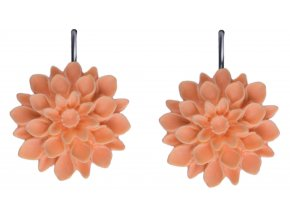 sunny peach oranzove visaci nausnice flowerski