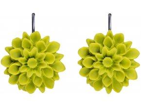 green apple zelene visaci nausnice flowerski