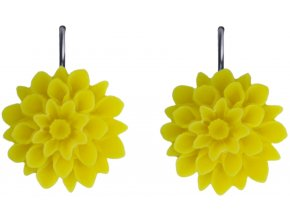yellow neon zlute visaci nausnice flowerski