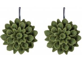 greece olive zelene visaci nausnice flowerski