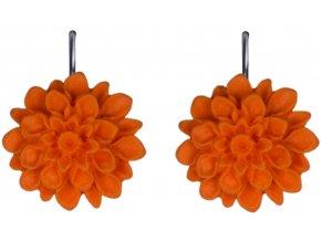 sweet orange oranzove visaci nausnice flowerski
