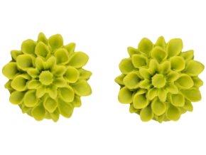 green apple flowerski nausnice