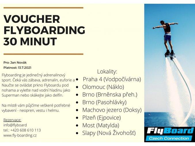 Voucher 10 minut Flyboarding